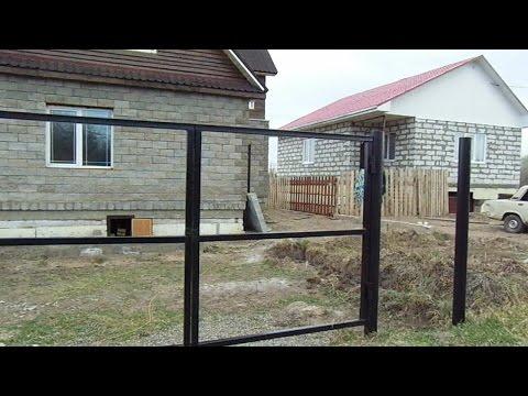 Как сварить ворота на забор из профильной трубы своими руками видео