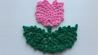 Цветок крючком в подарок на 8 марта маме. Видео-урок для начинающих. Подробный МК.