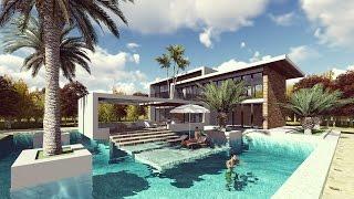 Lumion Landscape Design and Render Modern Villa Design