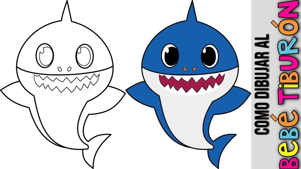 Bebe Tiburon Baby Shark Como Dibujar Al Bebe Tiburon Bebe