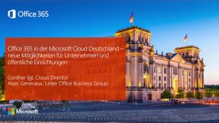 Office 365 in der Microsoft Cloud Deutschland | Microsoft