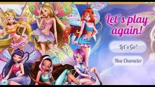 Бродилки с Героинями Винкс  Детская онлайн игра  Игра мультик для девочек
