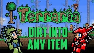How to Spawn Any Item You Want (Piggy Bank Glitch) Terraria 1.2 console