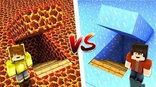 MAGMA GİZLİ GEÇİT VS BUZ GİZLİ GEÇİT! 😱 - Minecraft