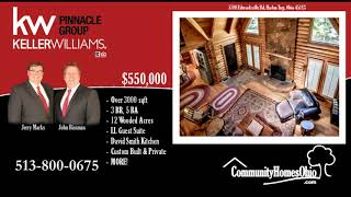 Real Estate in Little Miami School District  Custom Log Cabin Home w/Many Features