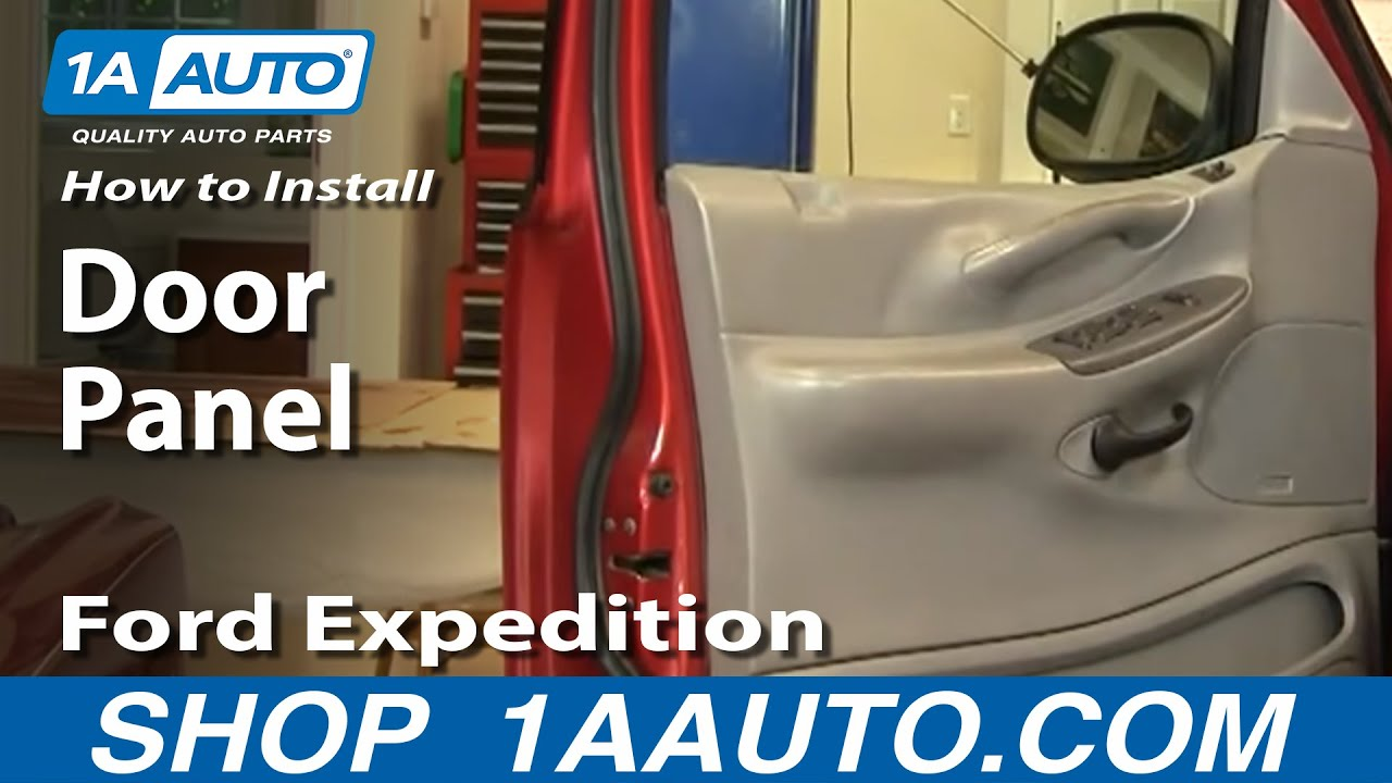 How To Replace Door Panel 97 03 Ford Expedition Youtube