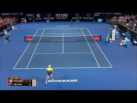 Polansky vs Millman Match Highlights (R1)   Brisbane International 2018