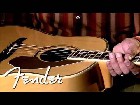 "Ron Emory on his Fender ""Loyalty"" Slope Shoulder Dreadnought"