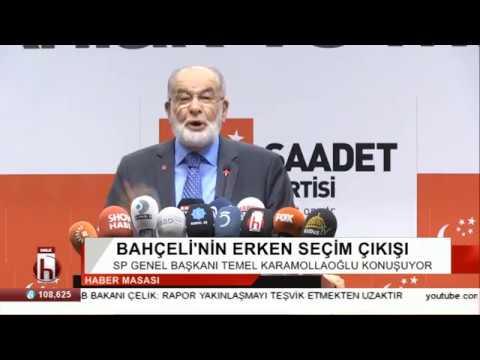 Saadet Partisi Lideri Temel Karamollaoğlu Erken Seçim Kararını Açıklıyor