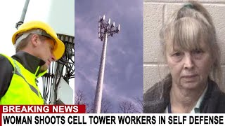BREAKING: WOMAN SHOOTS CELL TOWER WORKERS IN SELF-DEFENSE AFTER THEY DEPLOYED 5G IN HER NEIGHBORHOOD