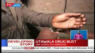 Police confiscate drugs worth Ksh 8 million during a drug bust in Nairobi\'s Utawala Estate