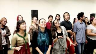 Behind the Scene for the AR Rahman show - Berklee Indian Ensemble