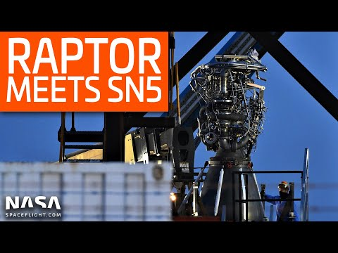 SpaceX Boca Chica - Raptor SN27 set for Starship SN5 Installation