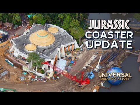 Jurassic Coaster Construction and Rumor Update - Universal Orlando Resort