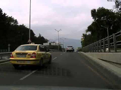 Sofia, Bulgaria road camera (Almost car crash)