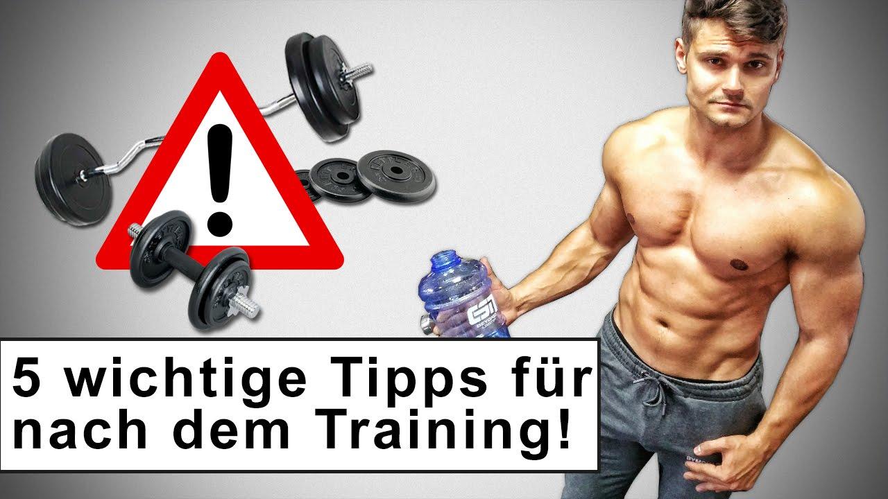 5 Tipps Für Nach Dem Training Effektiv Muskeln Aufbauen Youtube