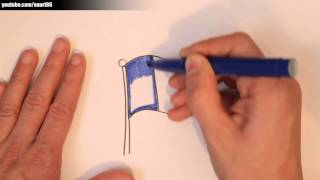 How to draw a french flag