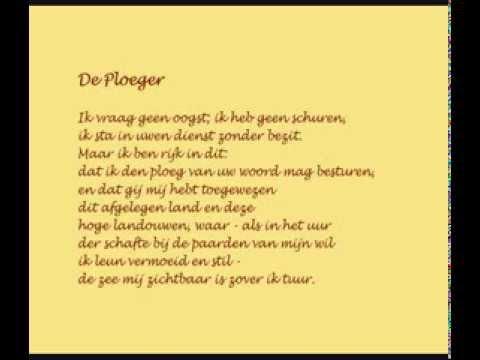 Adriaan Roland Holst Gedichtpoem De Ploegerthe Ploughman In Dutch And English