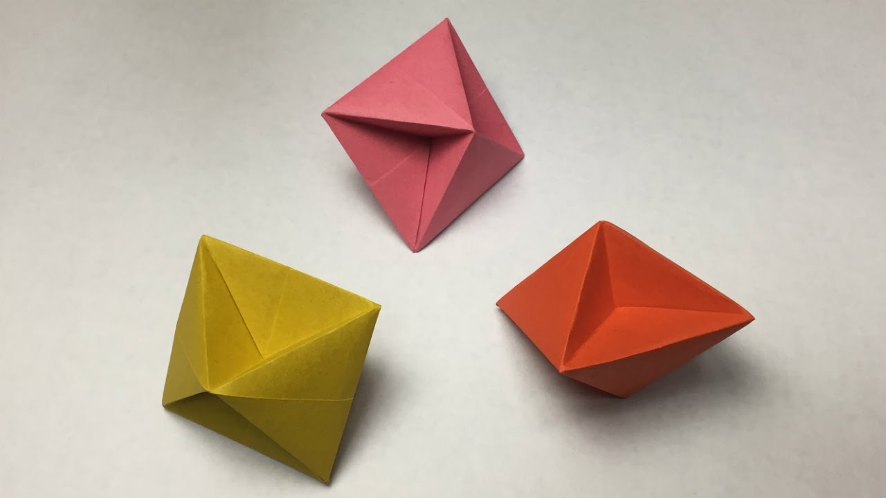 How to make a paper octahedron one sheet of paper youtube how to make a paper octahedron one sheet of paper jeuxipadfo Image collections