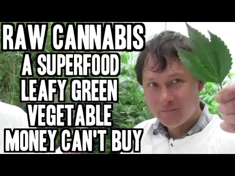 Raw Cannabis - A Superfood Leafy Green Vegetable Money Can't