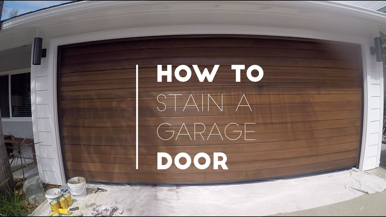 How To Stain A Garage Door   YouTube
