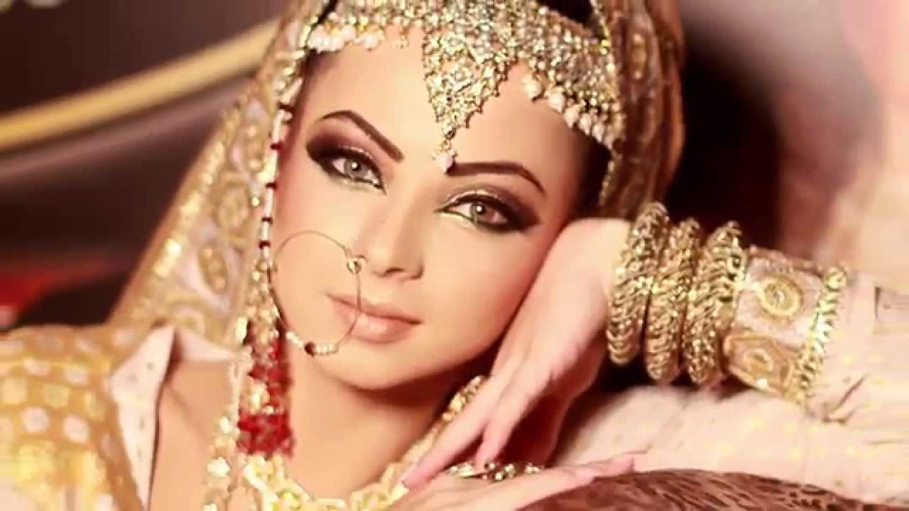 Asian Bridal Makeup Tutorial By Qas Of Kashish EMA - Pathani or Afghani Bride. - YouTube