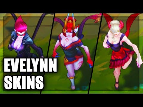 All Evelynn Skins Spotlight (League of Legends)