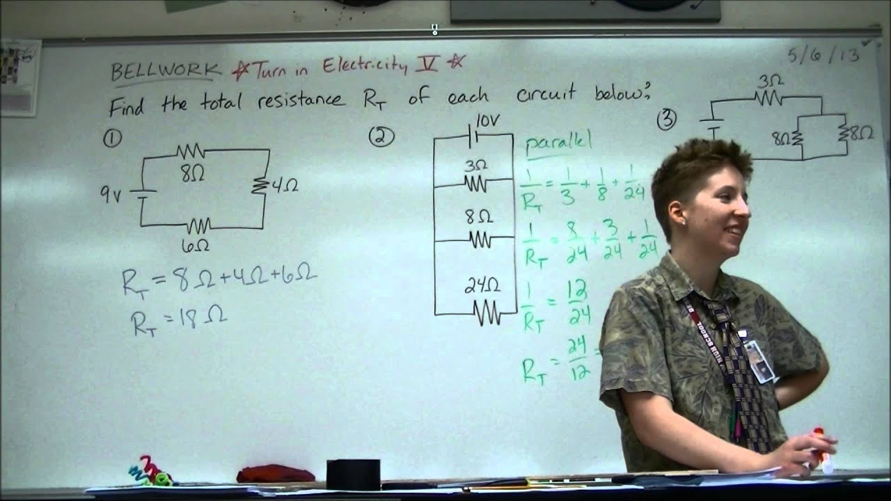 Bellwork 5 6 13 Total Resistance Compound Circuit Youtube Determine The Of Below
