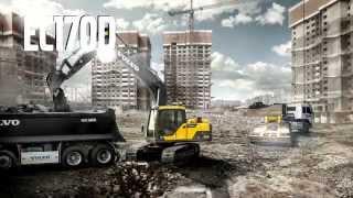 Video promocional de la Excavadora de orugas Volvo EC170D