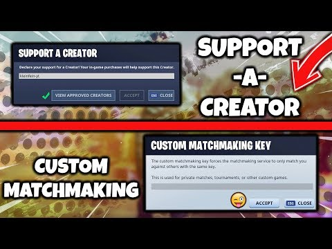 custom matchmaking key fortnite codes