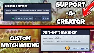 How to Get a Support A Creator Code + Custom Matchmaking Key in Fortnite!