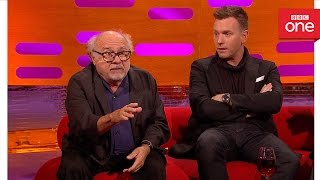 Video Danny DeVito was attacked by a monkey: The Graham Norton Show 2016 | Extra - BBC One download MP3, 3GP, MP4, WEBM, AVI, FLV Agustus 2018