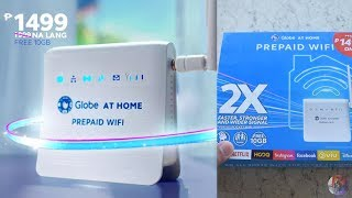 All New Globe at Home Prepaid Wifi | 2x faster than pocket wifi