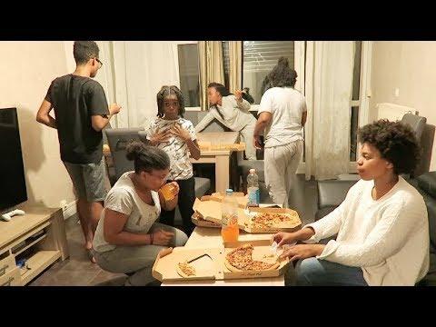 Soirée pizza + challenge  Teamsnap Teaminsta qui vas gagnée #sakinafamily6