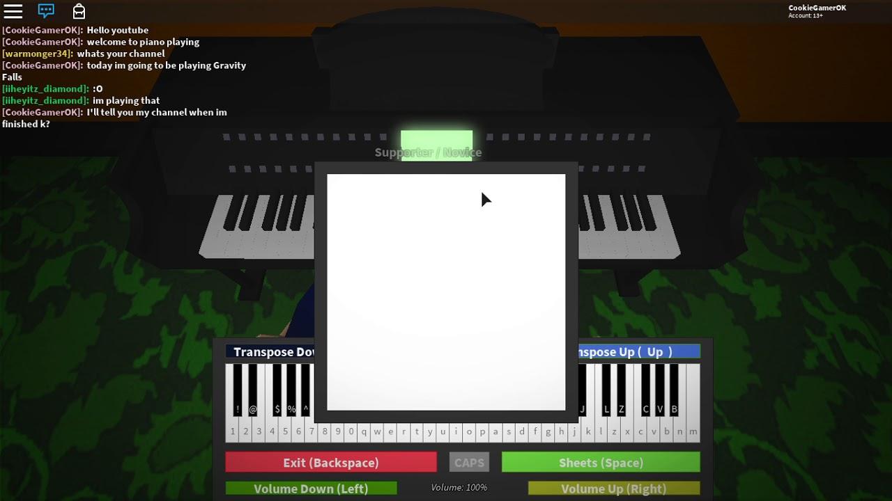 Piano Roblox Gravity Falls