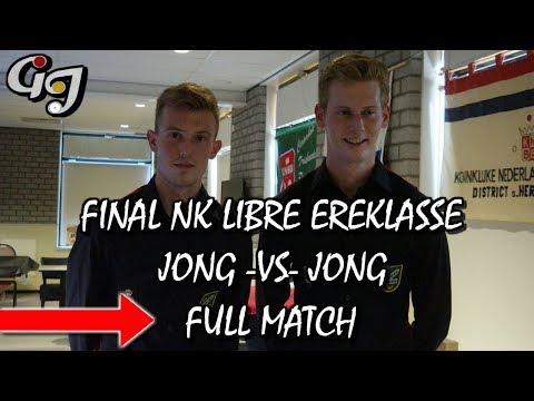 Ferry Jong VS Jordy Jong - Final Dutch Championship Libre/Free Game Ereklasse - Carom Billiards