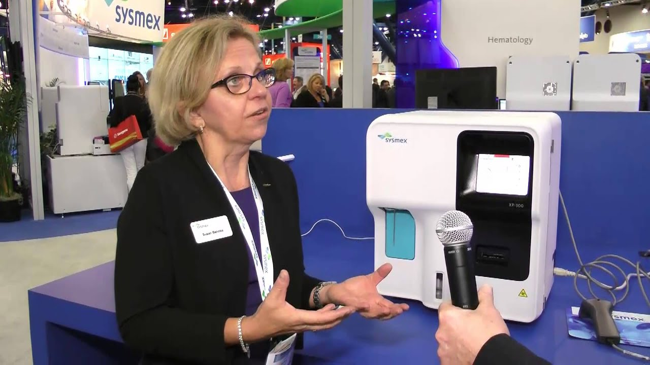 XP-300 Hematology Analyzer display in Sysmex booth at AACC 2013