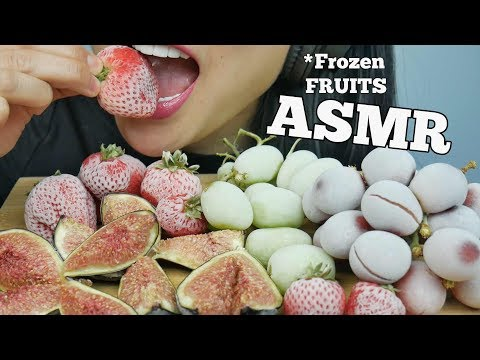 ASMR FROZEN Grapes + Strawberries + Figs (EATING SOUNDS) NO TALKING | SAS-ASMR