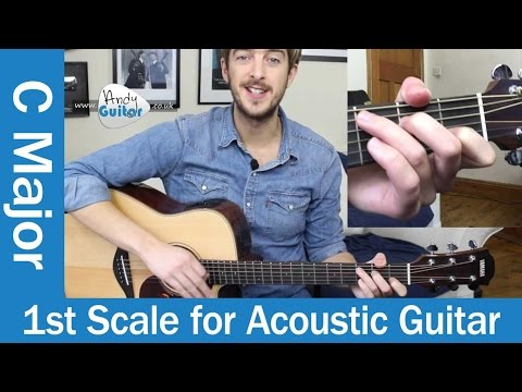 C Major Scale on Acoustic Guitar - Easy Scale For Beginners (Beginners Course Level 5 #5)