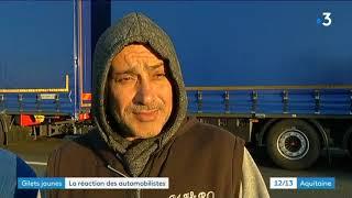 Gilets Jaunes : situation sur le pont d'Aquitaine ce lundi 19 novembre