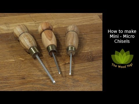 How to make Mini or Micro Chisels - Woodworking Project