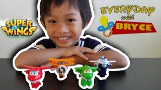SUPER WINGS TRANSFORM - A - BOTS TRANSFORM FROM PLANE TO BOT