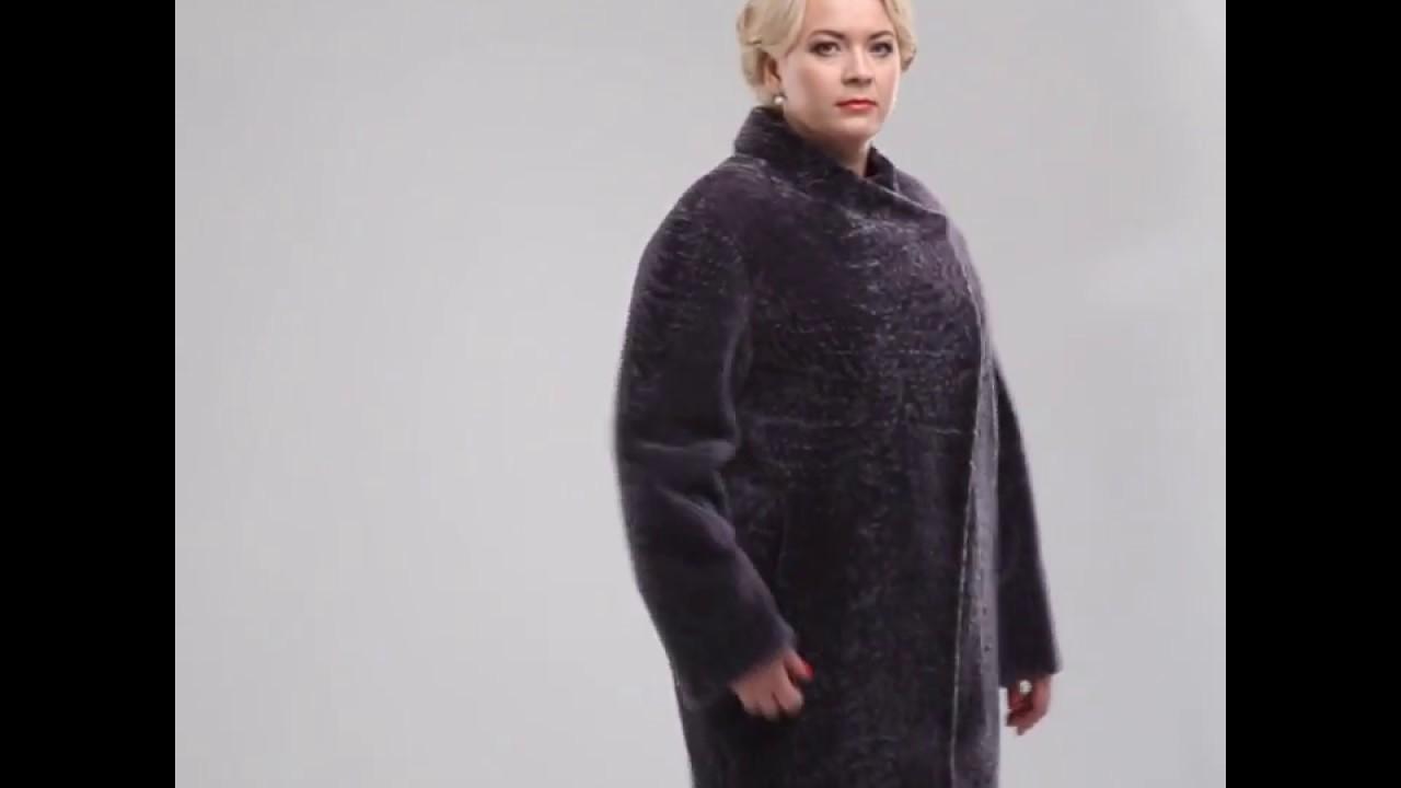 Зимнее пальто из мутона