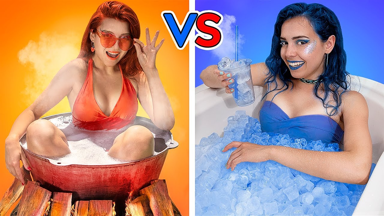 Download Hot vs Cold Challenge / Girl on Fire vs Icy Girl