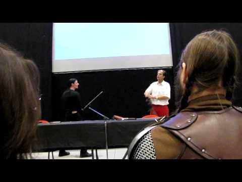 Maitre d'arme (christian Bujeau)  - démonstration d'escrime théâtrale