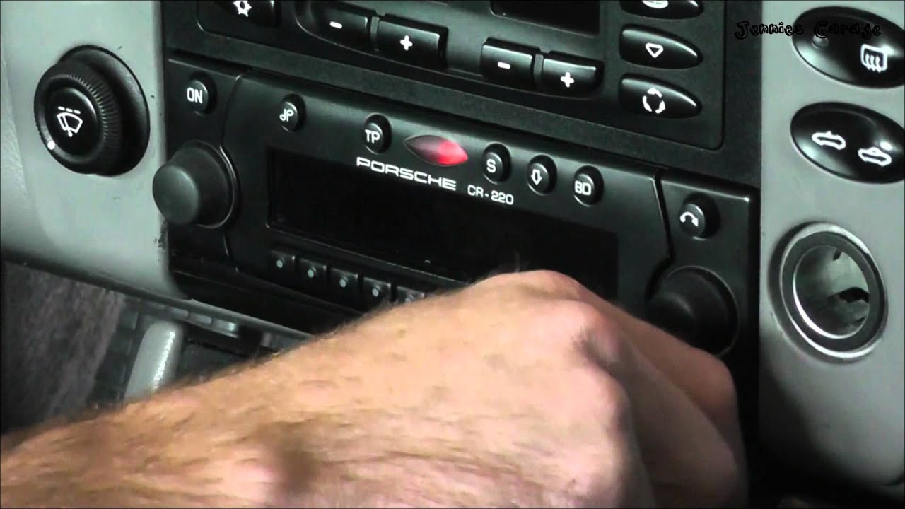 remove a stereo with fingernail clippers porsche vw mercedes [ 1280 x 720 Pixel ]