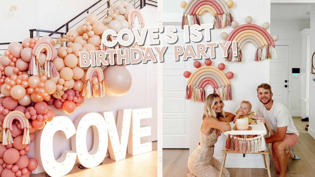 Download cove's 1st birthday party! setting up, decorating & opening presents!