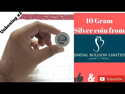 Unboxing 10 Gram 999 silver coin from Jindal Bullion for Free! (India 2016)