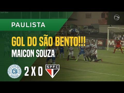 GOL (MAICON SOUZA) - SÃO BENTO X SÃO PAULO - 17/01 - PAULISTA 2018
