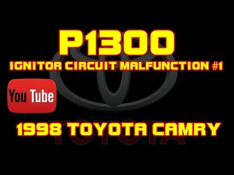 ⭐ 1998 Toyota Camry - 22 - P1300 - Ignitor Circuit Malfunction 1
